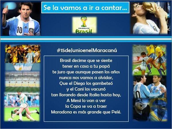 Τραγούδι Αργεντινής στη Βραζιλία