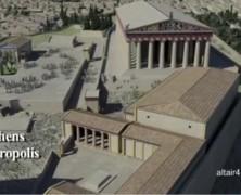 Ακρόπολη Αθηνών τριδιάστατη αναπαράσταση